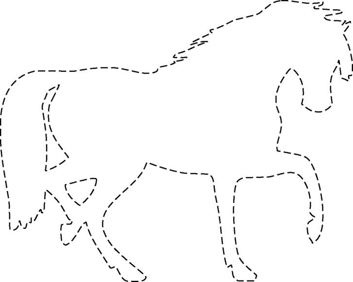 Siluetas de caballos para colorear imagui - Siluetas para imprimir ...