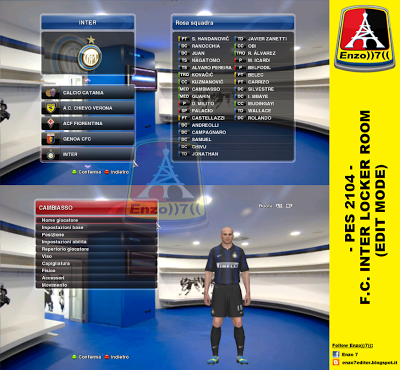 PES 2014 F.C. INTER LOCKER ROOM