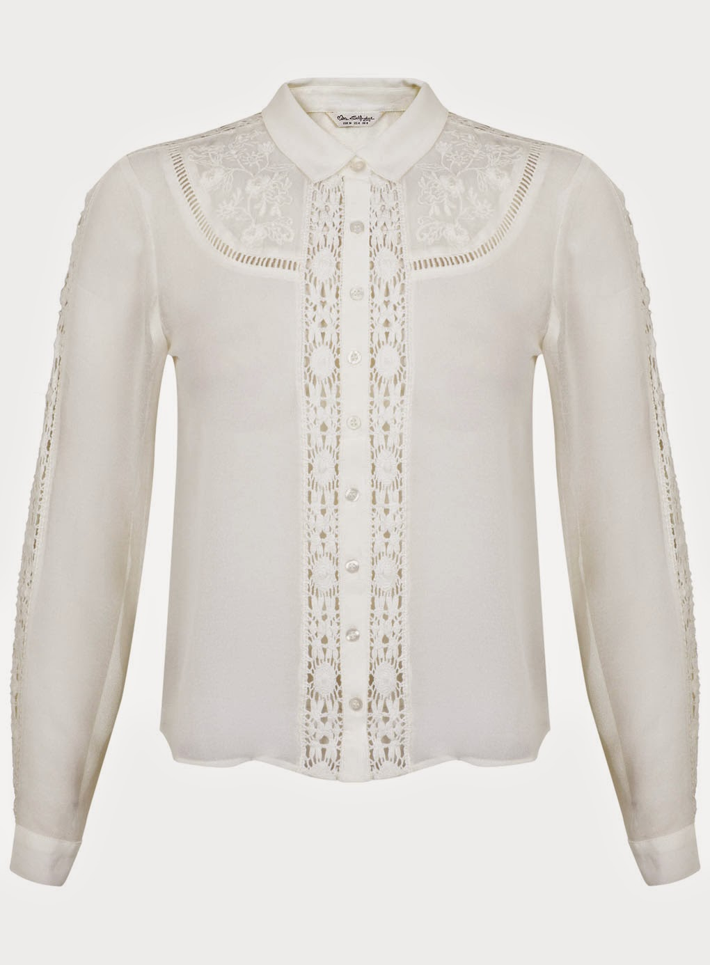 miss selfridge cream embroidered shirt, cream embroidered shirt