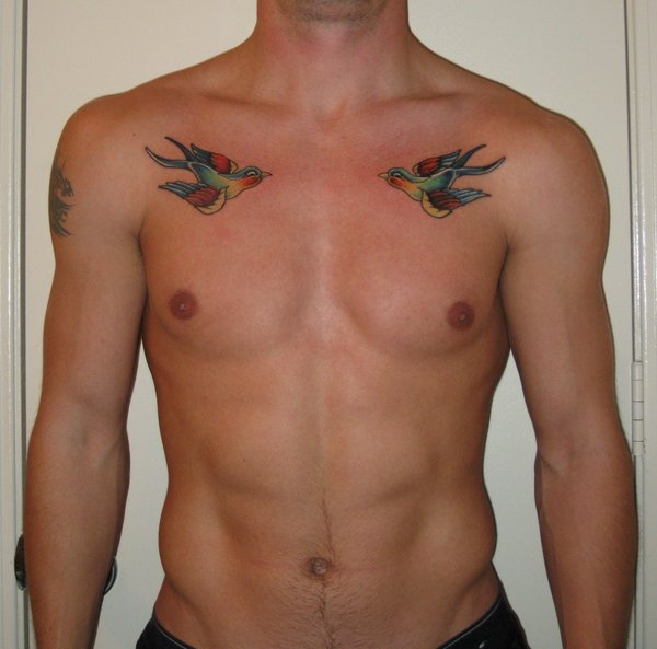 Sparrow tattoo for men - photo#13