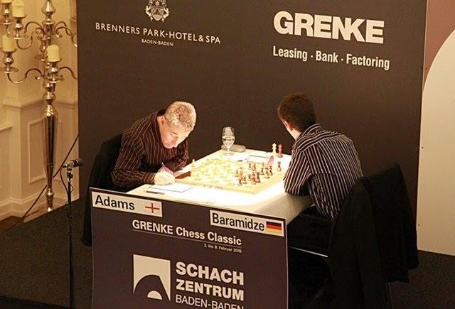 Adams - Baramidze , Tercera Ronda Grenke Chess Classic 2015