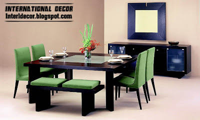 modern Italian dining room furniture ideas, green dining room