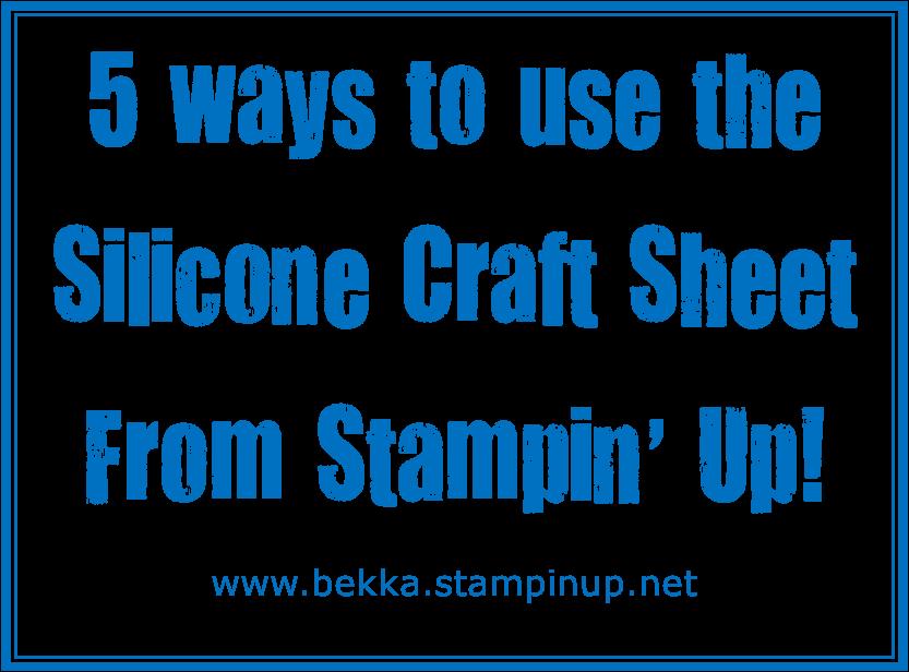 Stampin Up Uk Feeling Crafty Bekka Prideaux Stampin