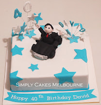Simply Cakes Melbourne 40th Birthday Cake