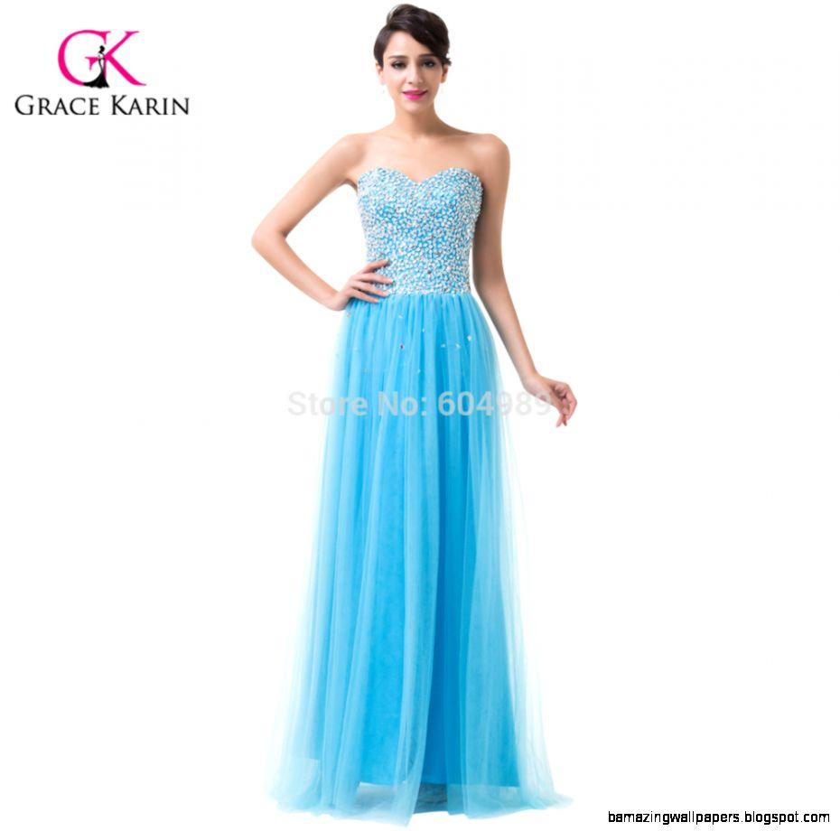 Grace Karin Vintage Tulle Blue