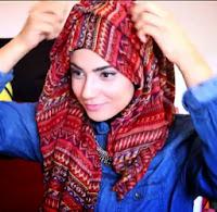 Tutorial Jilbab Kalung Pendek