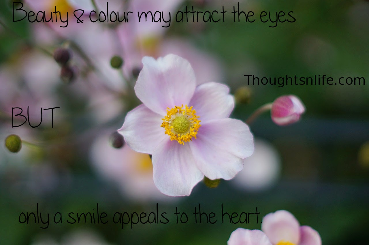 Thoughtsnlife.com: Beauty & colour may attract the eyes  but only a smile appeals to the heart.