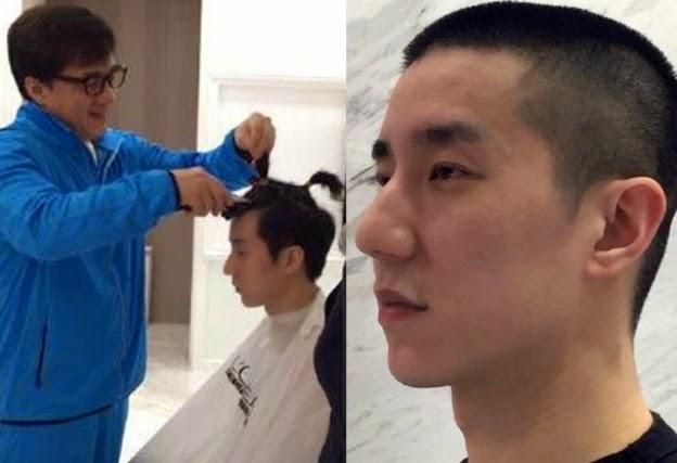 Anak Jackie Chan Botakkan Rambut Simbolik Untuk Berubah