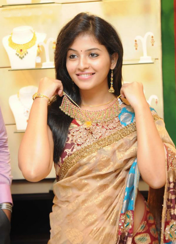Anjali South actress in saree at jewellery shop Opening | IDLE ...