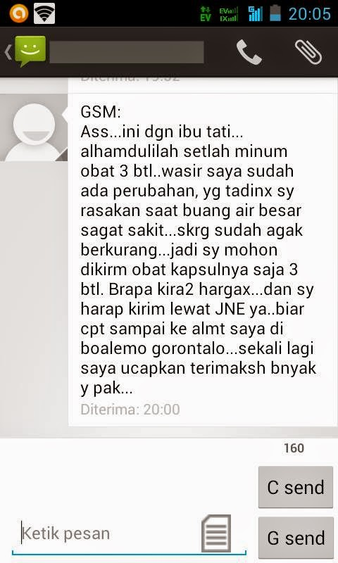 Screenshot Testimoni Pasien
