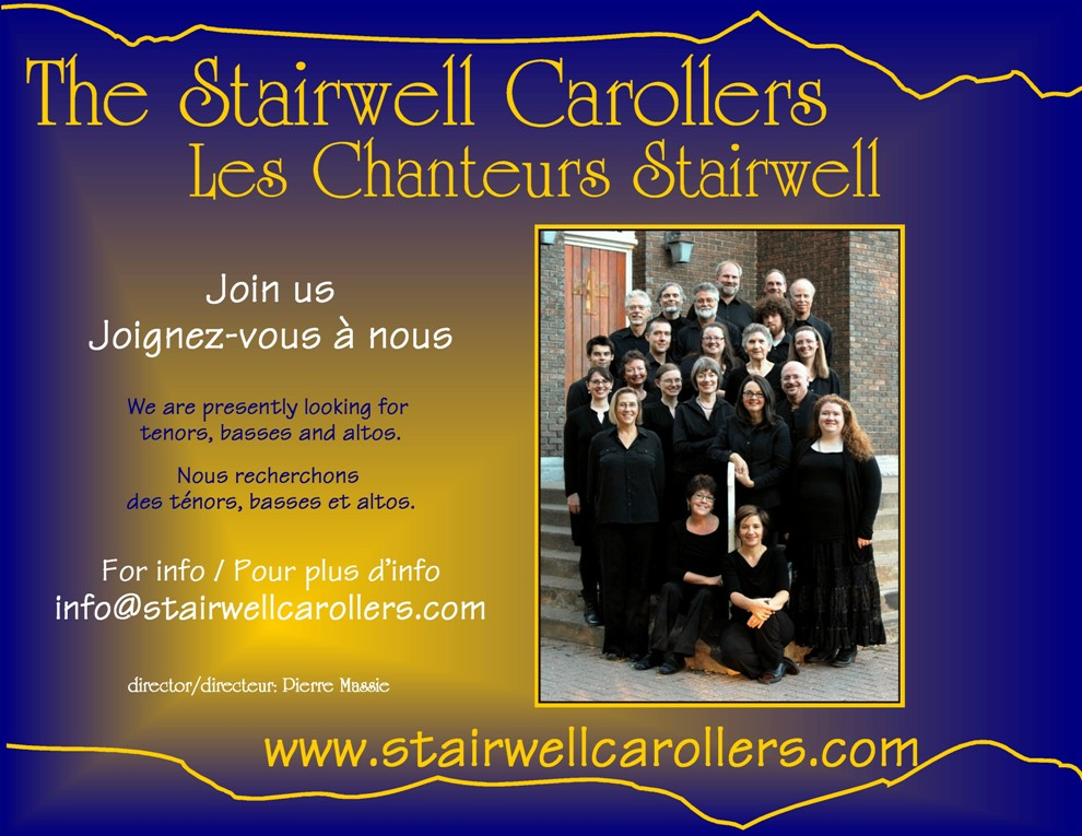 Stairwell Carollers call for auditions