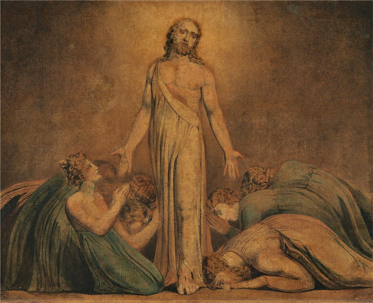 William Blake - Christ Appearing to the Apostles after the Resurrection