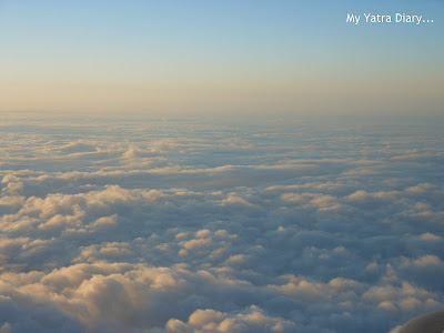 Beautiful cloud shots from aeroplane