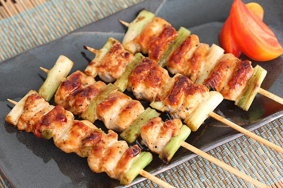 My Kitchen Snippets: Chicken and Green Onion Yakitori