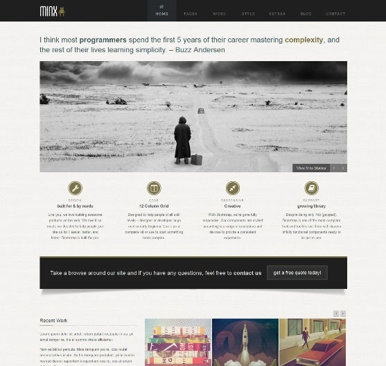 Minx Responsive Bootstrap WordPress Theme