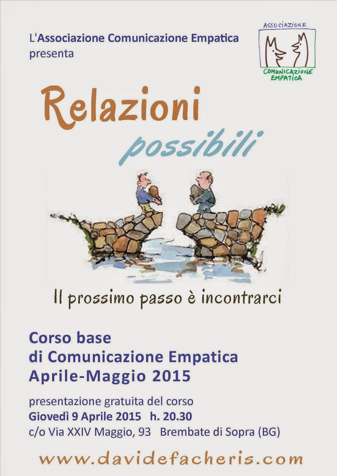 Formazione Primavera 2015 a Bergamo