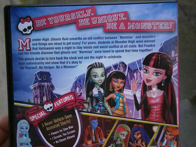 monster high dvd box cover back design special features