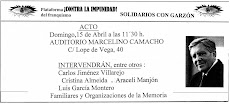 AUDITORIO MARCELINO CAMACHO - 15 de abril - 11:30 h