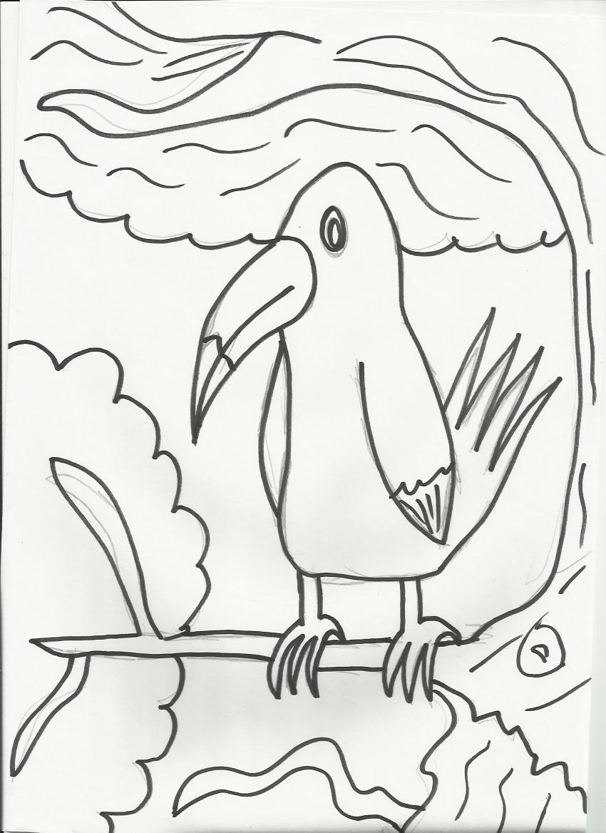 desenhos legais para colorir  desenho de tucano para colorir