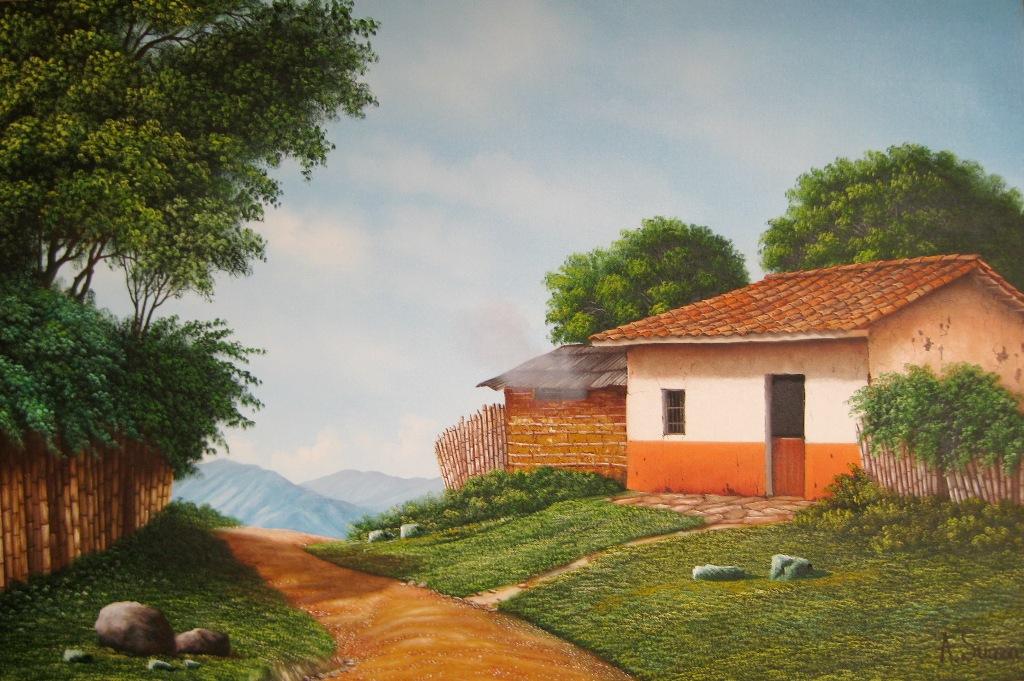 Cuadros modernos pinturas y dibujos 10 top leo - Paisajes de casas ...
