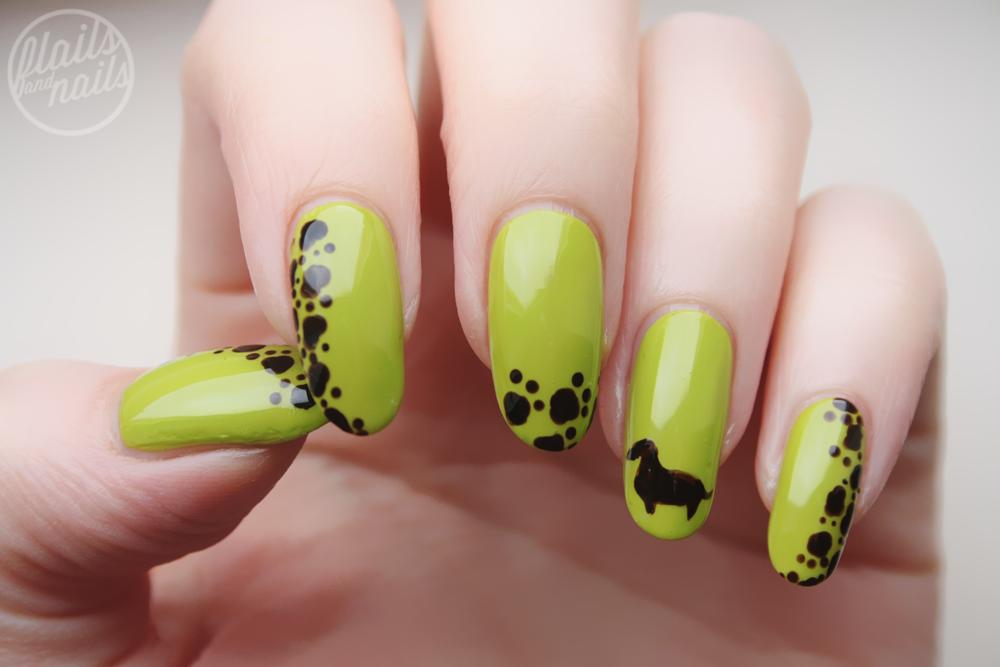 Some Dachshund Nail Art