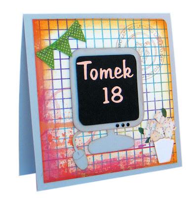 kartka urodzinowa dla chłopaka kartka z komputerem