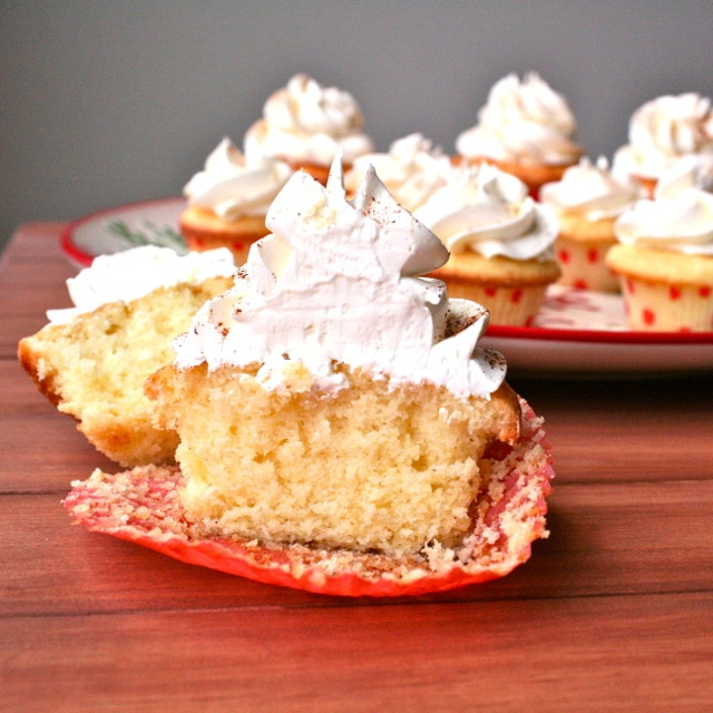 Eggnog Cupcakes with Spiced Rum Buttercream ( Print Me )