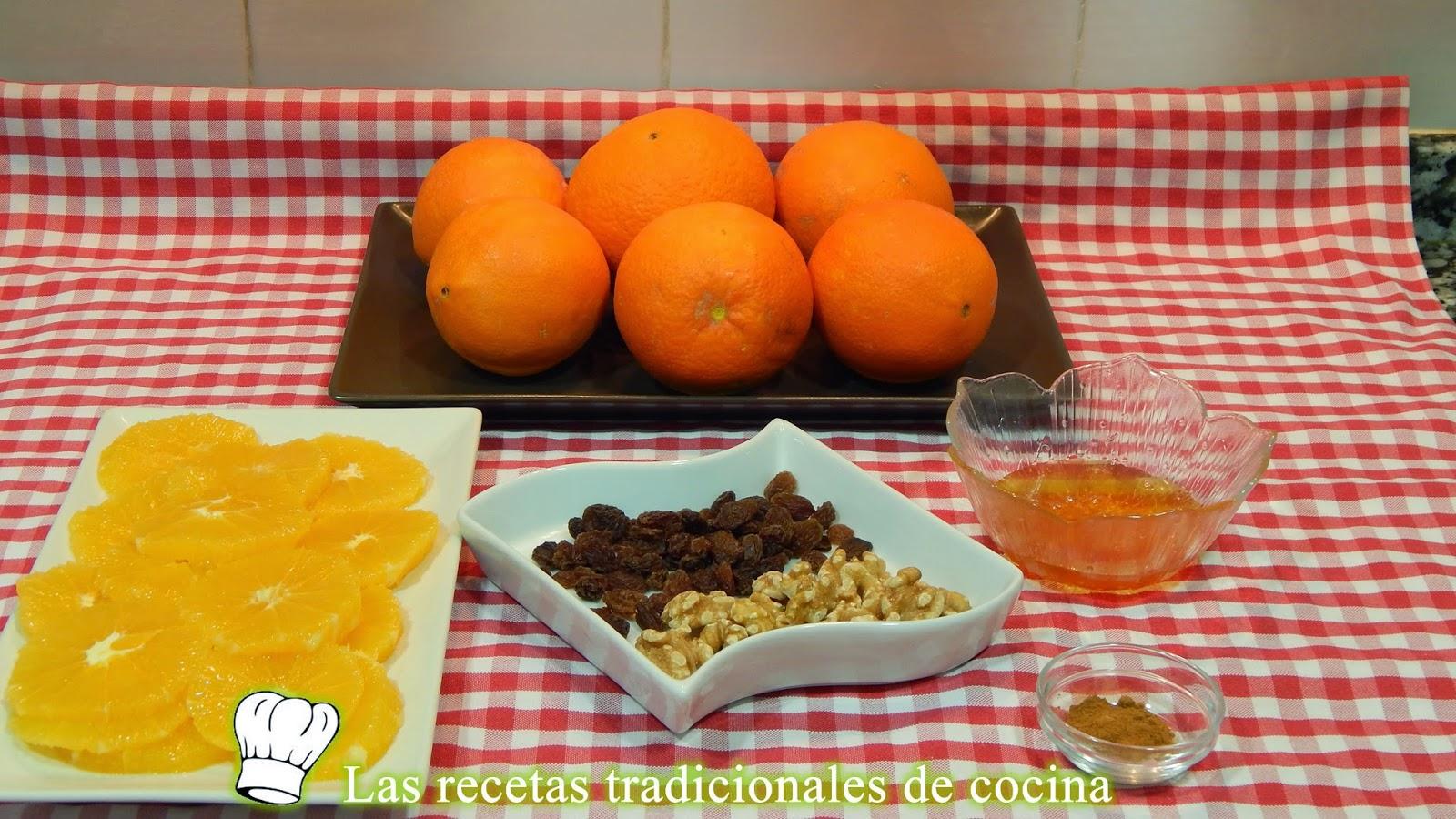 Naranjas con nueces y miel