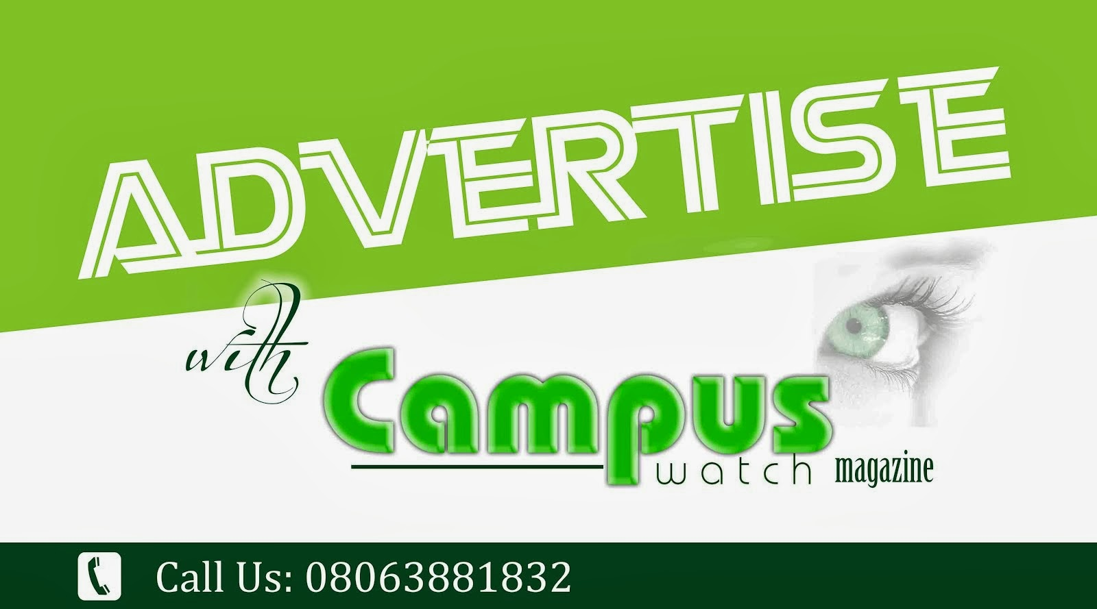 For Advert Placement (+2348063881832)