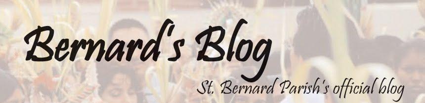 <center>Bernard's Blog</center>