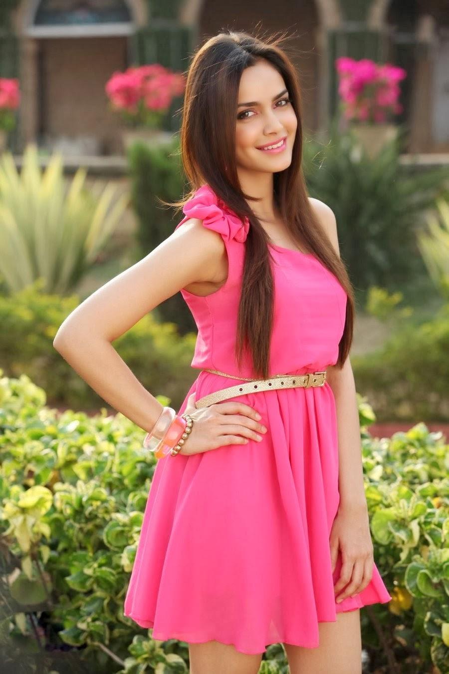Shazahn Padamsee Cute Photos in Pink Short Dress