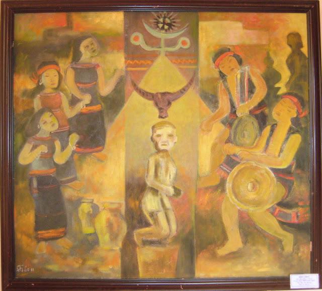 Tác phẩm hội họa về đề tài Tây nguyên 11