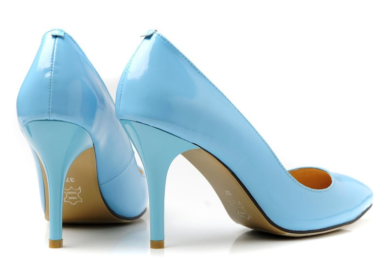 Pale Blue High Heels
