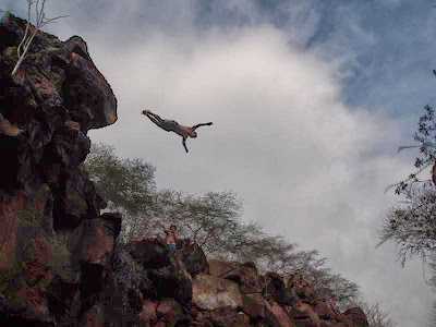 Saltador en Las Grietas