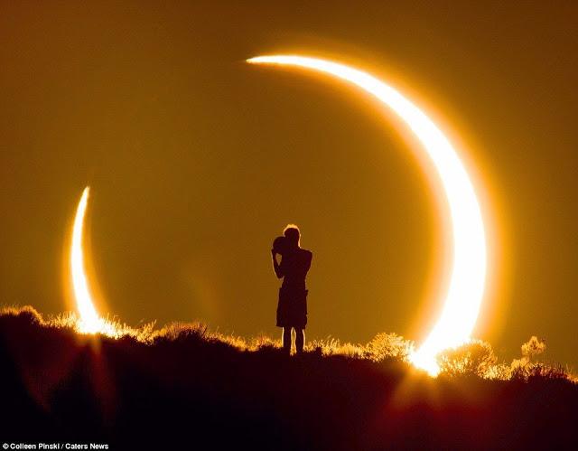 Karya Fotografi Spektakuler, Seorang Pria Dikelilingi Gerhana Matahari [ www.BlogApaAja.com ]