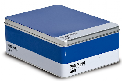 Pantone color tin box - blue