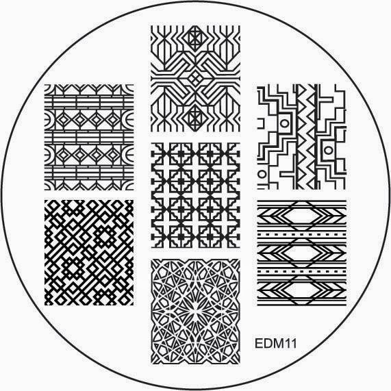 Lacquer Lockdown - Emily de Molly nail art stamping plates, EdM nail art stamping plates, Emily de Molly, nail art stamping blog, nail art stamping, messy mansion, pueen cosmetics, indie nail art stamping plates, cute nail art ideas, cool nail art ideas, abstract nail art, diy nail art