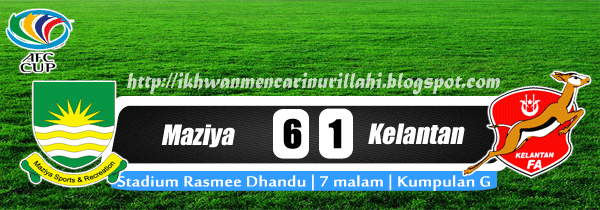 Keputusan Maziya vs Kelantan 23 April 2013 - Piala AFC