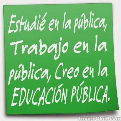 Vaig estudiar a la pública, treballo a la pública i crec en l'educació pública