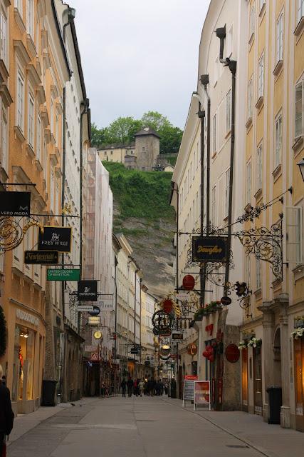 Shopping street in Salzburg