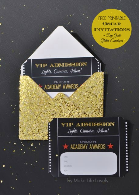 Oscar Party Invitations is one of our best ideas you might choose for invitation design