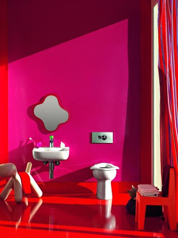 Juegos De Baño Infantiles:Cuarto de baño con Juegos y colorido para Niños por Laufen : Baños