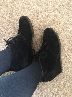 Clarks wedge Desert Boots Black