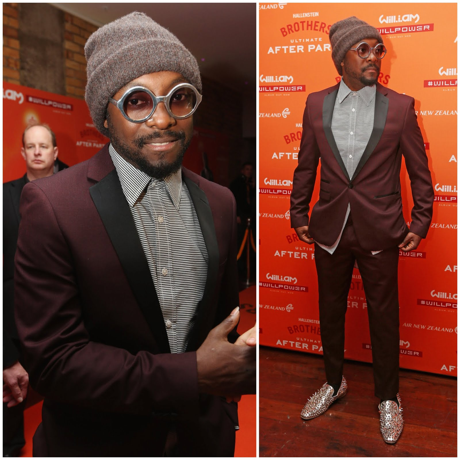 00O00 Menswear Blog: Will.i.am in Christian Louboutin Dandy Pik Pik - 'The Ultimate After Party' Auckland, New Zealand May 2013