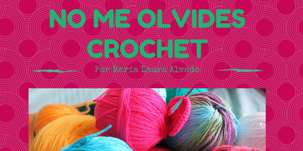No me olvides Crochet