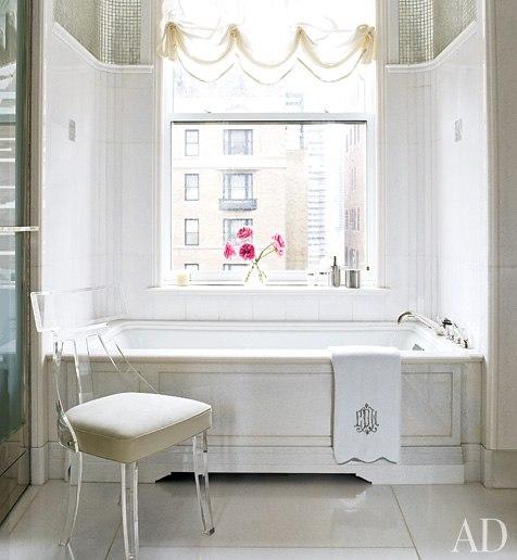 Serendipity Refined Blog Contemporary Apartment Small Bath Makeover: A Chic Manhattan Makeover By David Kleinberg