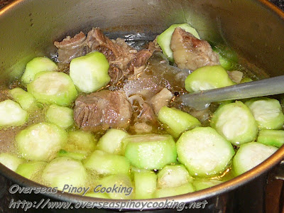 Nilagang Baka with Patola - Cooking Procedure