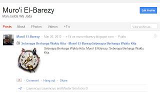 Memunculkan Postingan di Profil Google Plus