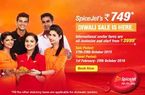 New Diwali Offer by SpiceJet