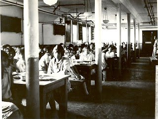 Student dining hall edmonton indian residential school circa 1930